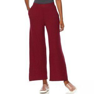 NWT Soft & Cozy Hacci Knit Pants 2X Burgundy
